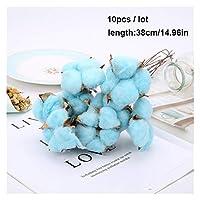 乾燥綿花人工植物結婚式のパーティーの装飾のための花の枝偽物の人工的な装飾 (Color : 1pcs)