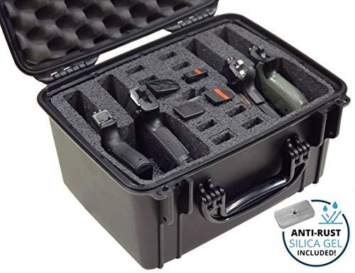 Case Club Waterproof 4 Pistol Case with Silica Gel