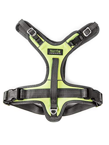 Mighty Paw Sport Harness 2.0, Padded Dog Harness, Adjustable Neck and Chest Straps with Reflective Stitching (Large, Green)