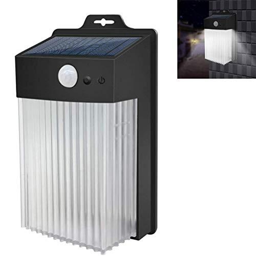 Mankoo - Aplique solar LED de pared para inducción de cuerpo humano exterior, lámpara de pie de jardín impermeable para uso doméstico de cocina