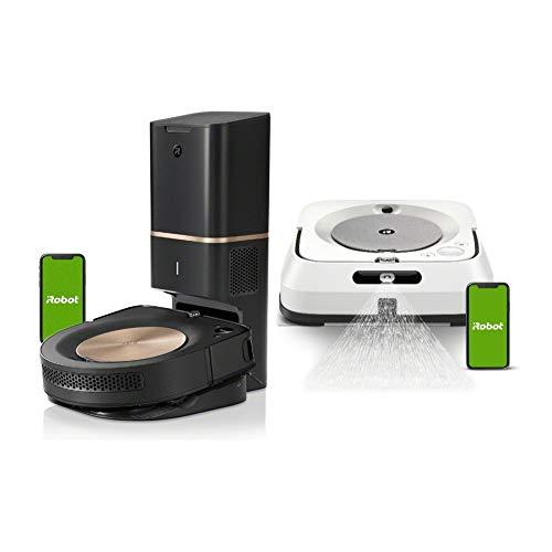 iRobot Roomba s9+ 9550 Wi-Fi Connected Robot Vacuum with Automatic Dirt Disposal and Braava Jet m6 Robot Mop Bundle (2 Items)