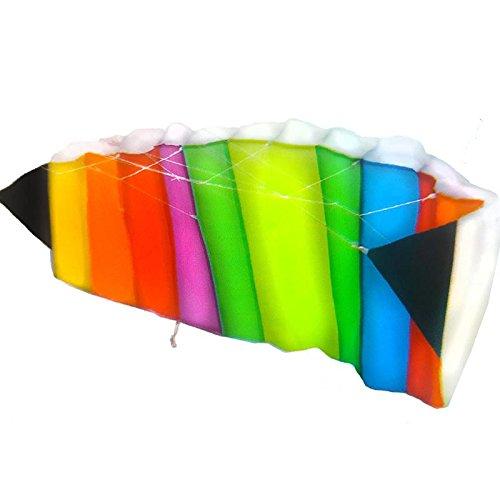 Anaterra Lenkdrachen 120 x 50 cm, Flugdrachen in Regenbogenfarben - perfekt für Kinder, Leichter Drachenflieger