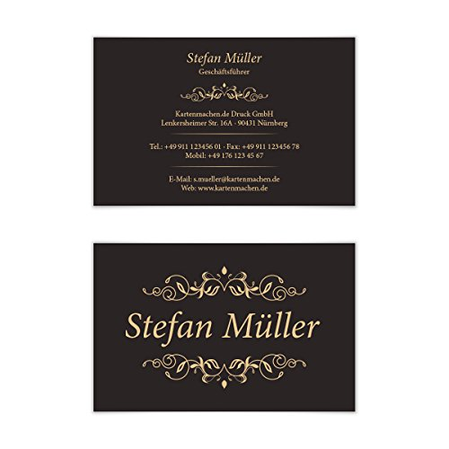 100 x Visitenkarten individuell Business Karten 300g/qm 85 x 55 mm - Viktorianisch