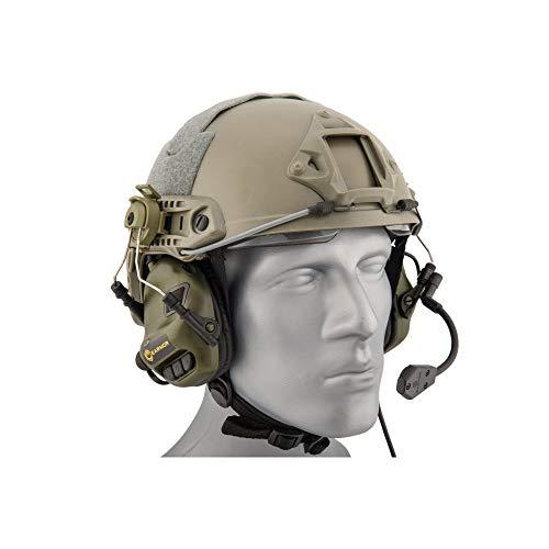 Earmor Helm Headset M32H mit NRR 22 Schallschutz, voll verstellbar - Olive [M32H-FG]