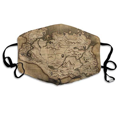 Bequem verstellbar Die alte Karte in Game Province of Skyrim Gesichtsdekorationen für Frauen und Männer