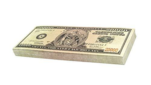 Cashbricks 100 x $20.000 Dollar Spielgeld Scheine
