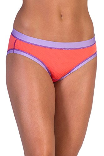 ExOfficio Women's Give-N-Go Sport Mesh Bikini Brief, Hot Coral, Medium