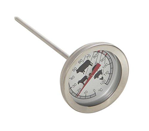 Dehner Grillthermometer, Ø 5.5 cm, Länge 20 cm, Metall