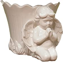 Napco 6-Inch Tall Ceramic Cherub Decorative Cache