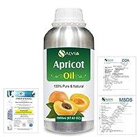 Apricot (Prunus armeniaca) Natural Pure Undiluted Uncut Carrier Oil 2000ml/67 fl.oz.