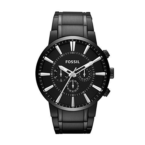 Fossil heren chronograaf kwarts horloge met roestvrij stalen armband FS4778
