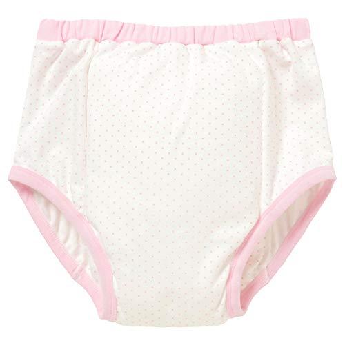 [ママミッケ] リハビリパンツ メンズ 大人用 下着 かわいい 綿100% 日本製 肌着 通気 柔らかい 吸湿 快適 防水機能なし (水玉、ピンク, M)