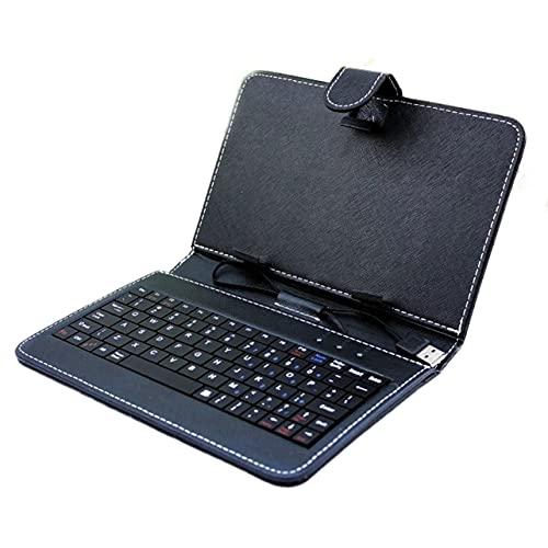 OKAYOU キーボード保護カバー軽量ユニバーサルキーボードレザー保護ケースタブレットケースアクセサリータブレットPC用キーボードセット付き