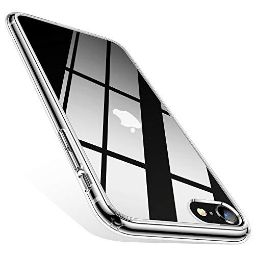TORRAS HD Hybrid Kompatibel mit iPhone 7/8/SE 2020 Hülle [Transparent & Anti Gelb] iPhone SE Hülle/iPhone 8 Hülle/iPhone 7 Hülle Case Handyhülle für iPhone 7/8/SE 2020 (Transparent)