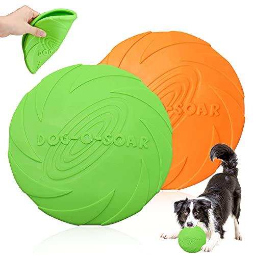 Perros interactivos Frisbee, 2 Pcs Frisbee Perro, Juguete de Disco Volador para Perro, para...