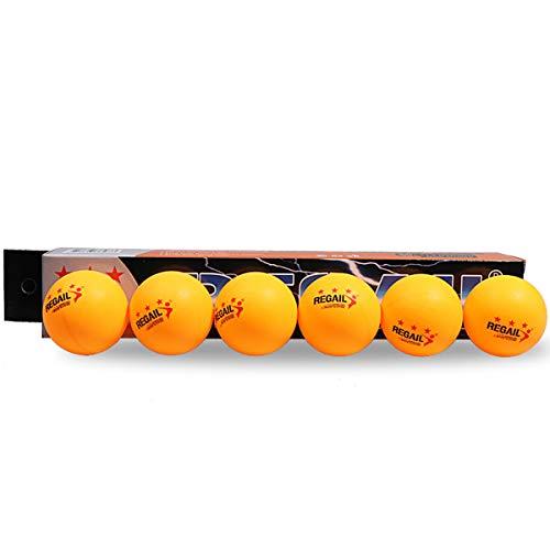 iFCOW Tischtennisbälle, Ersatzbälle für Wettkampftraining, 40 mm, 6 Stück, 1416946/12043523, gelb