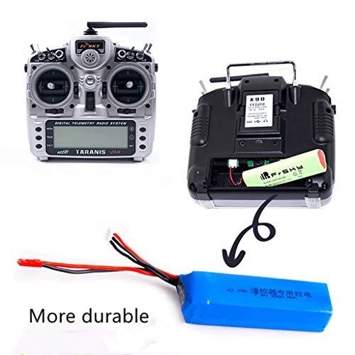 Alecony 7.4V 3000MAH Upgrade Lipo Batterie Kompatibel mit FrSky Taranis X9D PLUS Sender Drohnen Lithiumbatterie Zubehör