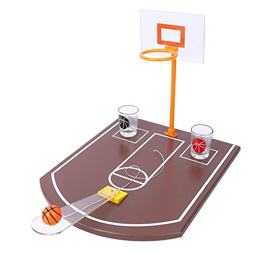 Great Price! Qioni Mini Basketball Machine, Acrylic Folding Table Basketball Drinking Game Mini Inno...