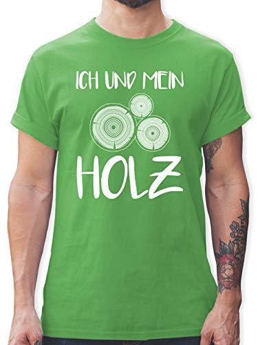 Sprüche - Ich und Mein Holz - L - Grün - t-Shirt mit Spruch Herren - L190 - Tshirt Herren und Männer T-Shirts