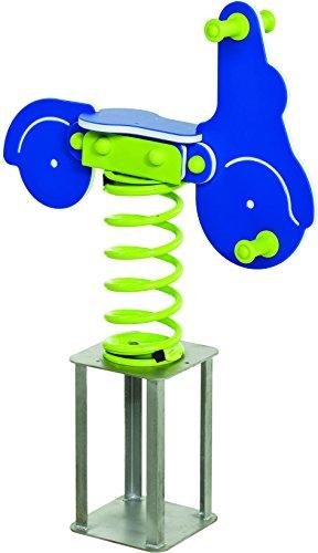 Federtier Roller blau für den öffentlichen Bereich Spielplätze DIN EN1176 Schaukelpferd Wipppferd TÜV geprüft Motorroller