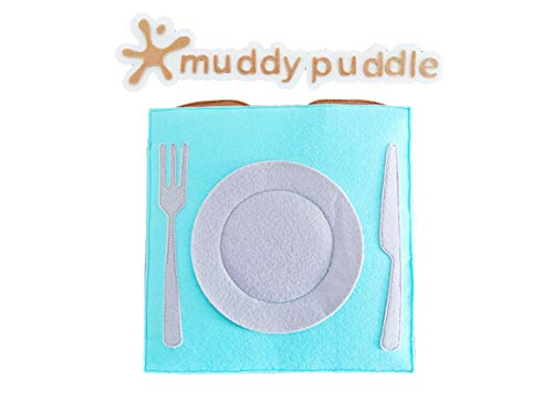 """Muddy Puddle – """"The Chef"""" Busy Book - Colorful Fabric Book with Play Pieces – Best Educational Gift Toy for Kids 2-6 Years – Soft Fabric Quiet Book for Sensory, Fine Motor Skills"""