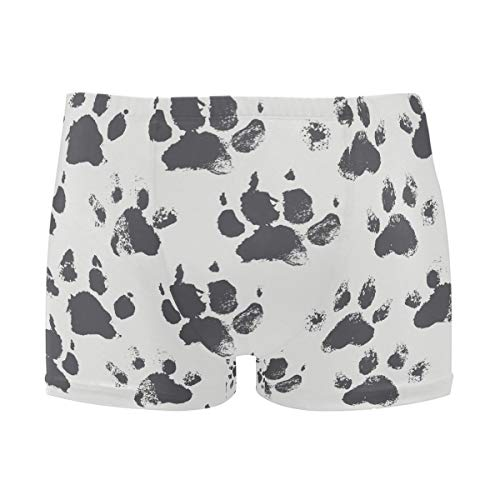 Abstract Bright Black Hand Paws Footprints Pattern Uomo Solid Nuoto Shorts Moda Costumi da bagno 1 L