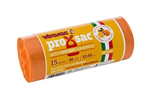 VIROSAC - Rollo de 15 Bolsas de Basura perfumadas, Fragancia