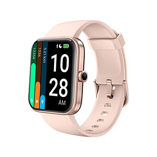 Smartwatch donno, AKWLOVY Orologio Fitness Tracker Contapassi Alexa Integrato Cardiofrequenzimetro, 1.69'' IP68 Impermeabile Con Modalità Nuoto, Saturimetro (SpO2) per Android iOS