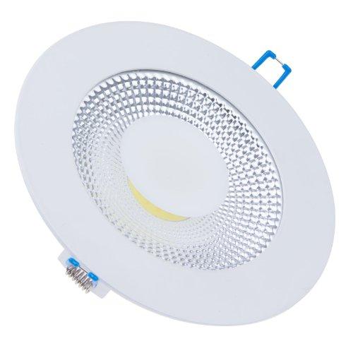LEMONBEST Energy Saving LED Light 15 Watts Round LED Panel Light Glass Warm White COB SMD Ceiling Lamp Down Light with led Driver, 15W Soft Warm White