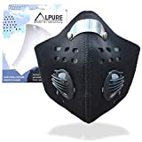 Alpure Anti Pollution Dust Mask, Activated N99 Carbon Air Filter for Maximum Filtration. Adjustable Strap and Nose Clip. Protects from Dust, Exhaust Fumes, Smog, Pollen Allergy. Warm Winter Mask
