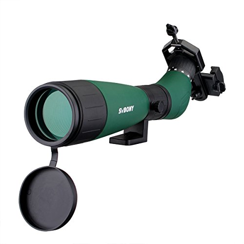 Svbony SV18 Telescopio Terrestre 20-60x60mm Telescopio Monocular Portátil para Observación de Aves Tiro al Blanco Paisaje Silvestre Viendo Tiro con Arco Excursionismo con Adaptador para Teléfono