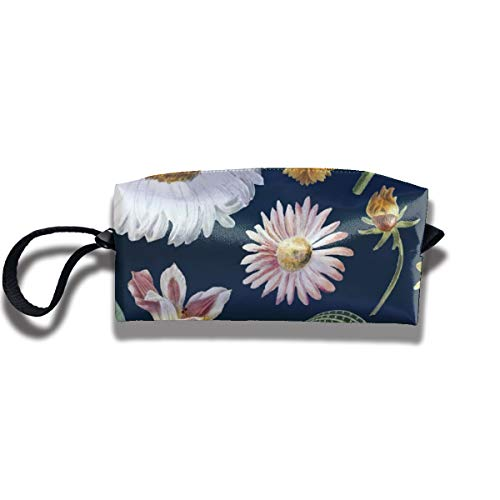 Bbhappiness Pouch Handbag Cosmetics Bag Case Purse Travel & Home Portable Make-up Receive Bag Floral Pattern