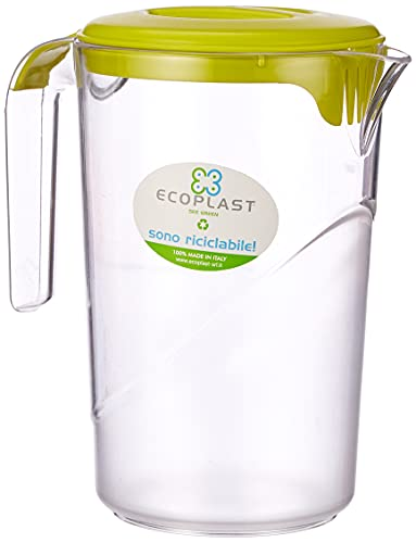 Eco Plast Brocca Coperchio, Rosso, Taglia Unica