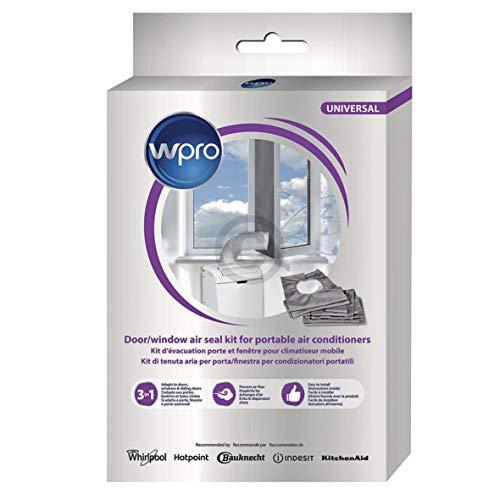 Wpro CAK002 ORIGINAL Abdichtung Dichtungssatz Abluft für Fenster Tür mobile Klimaanlage Klimagerät auch Whirlpool Bauknecht 484000008629