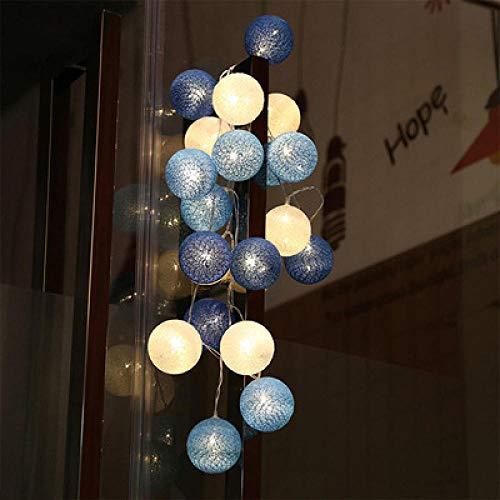 Guirnalda de luces LED de Garland de 2 m, 3 m, 6 m, para Navidad, al aire libre, boda, para bebés, decoración, Blue_CN_Controlled_3 m, 20 LED