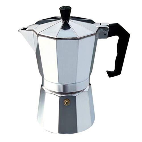 MOHAN88 Cafetera Octangle de Aluminio Moka Pot para café Moka, café Negro, café Italiano, Regalo práctico, fácil Limpieza, Plateado