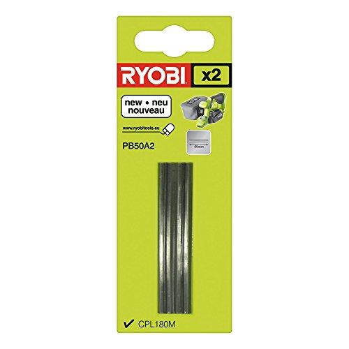 Ryobi Hobel-Wendemesser (50mm, 2er-Set) PB50A2, passend für Hobel R18PL-0 - 5132002602