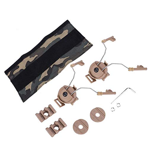 Demeras Kit de adaptador de carril para casco, adaptador de carril para Airsoft, casco para AST OPS-Core para ACH-ARC (Sand DE)