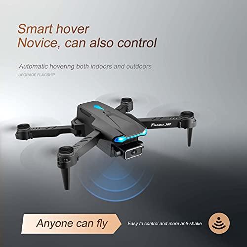 Goolsky S89 RC Drohne mit Kamera 4K WiFi FPV Doppelkamera Drohne Mini Falt Quadcopter Spielzeug für Erwachsene Kinder mit Schwerkraftsensor Steuerung Headless-Modus Geste Foto Video Funktion