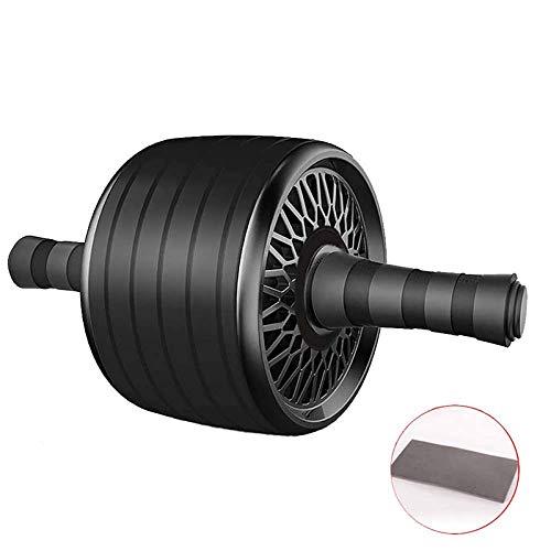 Rodillo De Ejercicio AbdominalAb Roller Fitness Gym Rueda Abdominal Rodillo Deporte Core Entrenamiento Muscular Herramientas De EjercicioHerramienta De Gimnasio AB Wheel (Size:One Size; Color:Black)