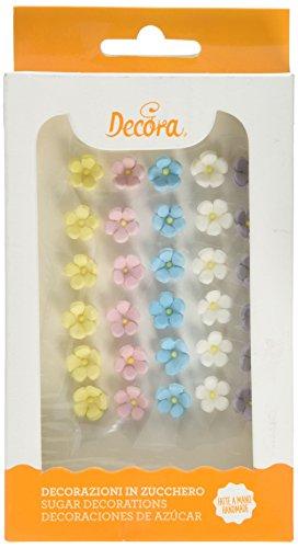 Decora Decorazioni di Zucchero Fiorellini Medi, Multicolore