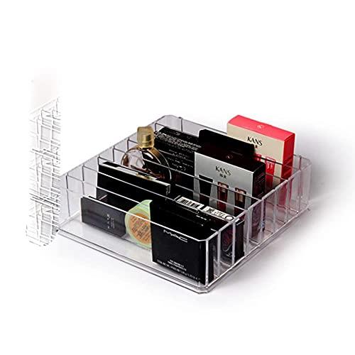 2019 nueva caja de almacenamiento de arreglos de maquillaje de acrílico negro portátil caja de almacenamiento de herramientas de maquillaje cosmético transparente organizador de estuches-24.23.6.CM, 8