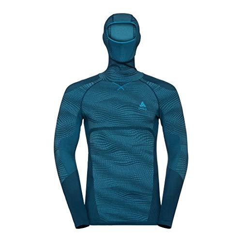 Odlo Herren SUW TOP with Facemask l/s Performance BLACKCOMB Shirt, Poseidon - Blue Jewel - Atomic Blue, S