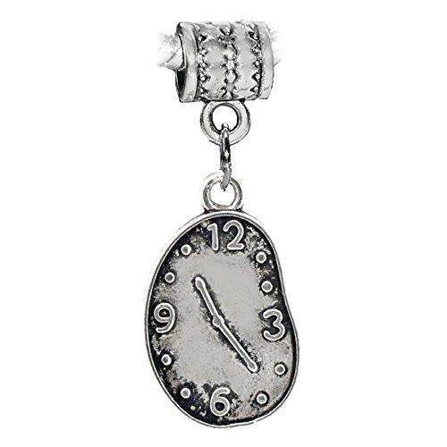 Melting Clock Salvador Dali Art Dangle Charm