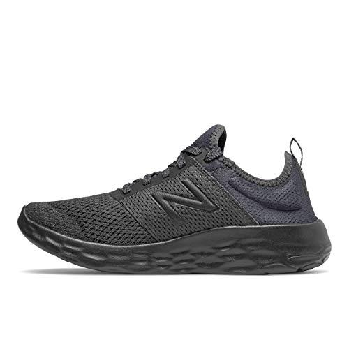 New Balance Men#039s Fresh Foam Sport V2 LaceUp Running Shoe Black/Black 85 XWide