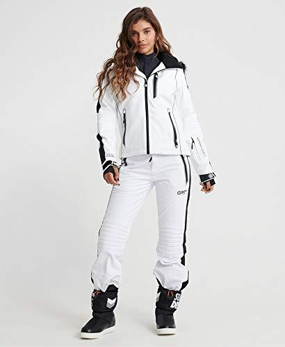 Superdry Damen Skijacke Carve S Weiß (Arctic White)