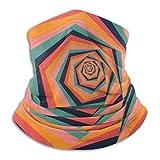 hfdff Sun Uv Protection Halsmanschette Selbstgemachte abstrakte Muster Winddichter Schal...
