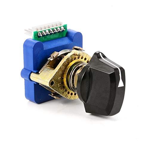 JSJJATQ Interruptores Código Digital Interruptor Giratorio Codifique con la Perilla de plástico para Control Industrial DCRS-01J DCRS-01N DCRS-02N DCRS-02J (Color : 02N)
