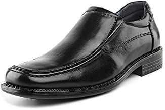 Bruno Marc Men's Goldman-02 Black Slip on Leather Lined Square Toe Dress Loafers Shoes for Casual Weekend Formal Work - 10 M US