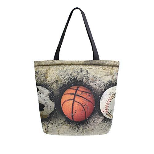 LUPINZ Basketball-Tasche, eingebettet in Ziegelmauer, Reisetasche, Schultertasche für Einkaufen, Damen, Handtasche